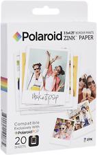 Polaroid Paper Zink 20 Photo 7 6x10 Cm for Cameras Pop
