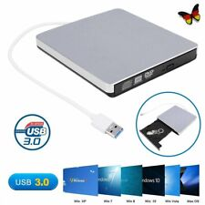 Slim Externes USB 3.0 DVD Laufwerk RW CD ROM Brenner für Windows PC Laptop Mac