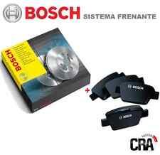 KIT DISCHI FRENO BOSCH + PASTIGLIE BOSCH FIAT PUNTO 188 II 1.2 44 KW 8v ANT