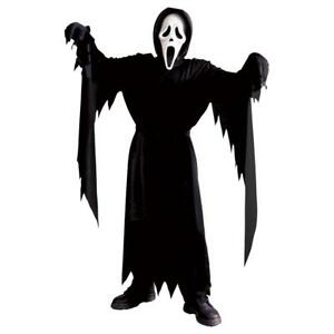Kids Scream Costume Ghost Halloween Fancy Dress Outfit With Mask - One Size