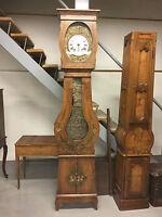 Horloge sapin peinte Napoléon III