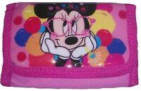 Disney Minnie Mouse Rose Portefeuille Triple Pli Avec Compartiment Zippé