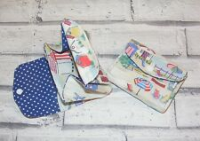 Beach Huts Cath Kidston Fabric 3 Compartments Handmade Coin Purse