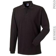 Camicie casual e maglie da uomo neri in cotone taglia 46