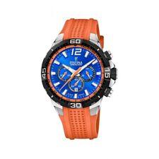 Festina F20523-6 Men's Chrono Bike Orange Rubber Strap Wristwatch