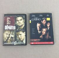 The Departed and Casino DVD Bundle movie Lot pesci nicholson