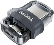 SanDisk - Ultra 256GB USB 3.0, Micro USB Flash Drive - Grey/Transparent