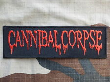 ECUSSON PATCH toppa aufnaher THERMOCOLLANT CANNIBAL CORPSE musique / 12.3x3.8 cm