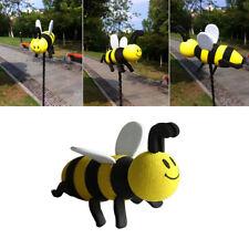 1x Hot Smiley Honey Bumble Bee Yellow&Black Car Antenna Topper Aerial Ball Decor