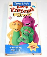 Barney & Friends Collection VHS Let's Pretend With Barney Sing Along 1993