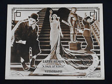 A PAIR OF KINGS 1922 * LARRY SEMON * VITAGRAPH COMEDY SHORT * RARE TITLE CARD!!!