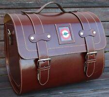 Large Leather Top Case Roll Bag Vespa Primavera 946 LXV GTS GTV Elettrica, Brown