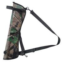Outdoor Target Hunting Archery Quiver Back Hip Waist Bag Arrow Bow Holder Pouch
