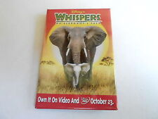 VINTAGE PROMO PINBACK BUTTON #93-036 - DISNEY - WHISPERS AN ELEPHANT'S TALE