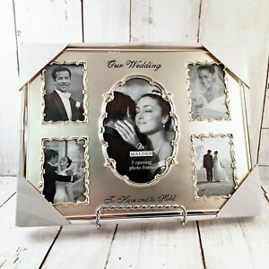 New Malden International Designs OUR WEDDING Silver Collage 5 Picture Frame