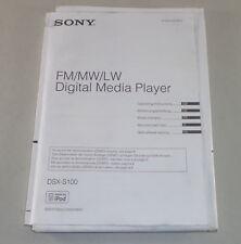 Manuale di istruzioni/operating Instructions Sony Autoradio/Digital Media Player