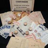 Ephemera lot pill box pharmacy drug store label check junk journaling crafts