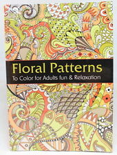 Oceanis Adult and Teen Coloring Book Floral Garden Patterns Theme