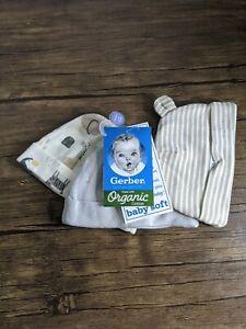 Gerber Organic Cotton 3pk Caps Gender Neutral