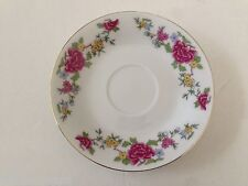 Made in China CX51 Pink, Yellow, Blue Flowers, Gold Edge - TEA CUP SAUCER
