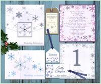 * Snowflake winter WEDDING INVITATION INVITES STATIONERY STYLISH