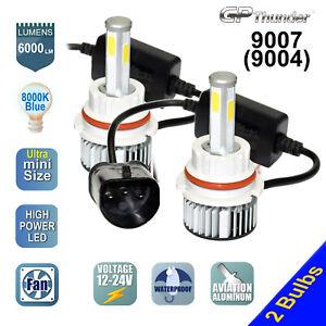 4-Sides 2x 9007 9004 HB5 COB LED Headlight Kit Hi/Lo Power Bulbs 8000K Icy White