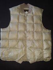 Vintage Eddie Bauer Goose Down Puffer Vest Beige Men's Size 50 Full Zip