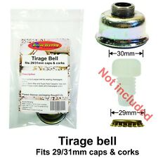 Tirage Bell for 29/31mm Champagne caps, corks Fits Black Max,Super Auto Cappers