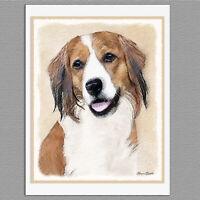 6 Nederlandse Kooikerhondje Dog Blank Art Note Greeting Cards