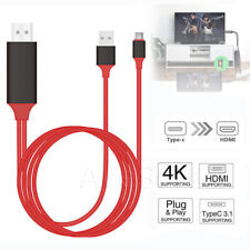 6 ft/2m Type C to HDMI HDTV TV Cable Adapter For Samsung Galaxy S8 S9 S10 Note 9