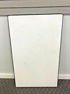 Vintage ENAMEL TABLE TOP hoosier porcelain White country granite cabinet old 40s