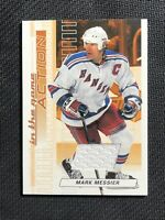 2003-04 IN THE GAME ITG ACTION MARK MESSIER GAME-USED JERSEY BRONZE PRINT /100