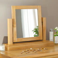 French Classic Oak Dressing Table Vanity Mirror - Adjustable Pivot Angle - CF14