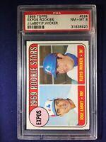 1969 Topps Expos Rookies #524 PSA 8 Wicker/LaBoy