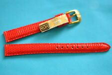 VERO Lucertola Cinturino orologio rosso 12mm VON KAUFMANN dalla Germania