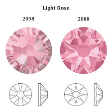 Genuine Swarovski Flat Back 2058 Foiled Glue Fix All Sizes & Colors Rhinestones Light Rose 2mm (ss6) 100 Crystals/pack