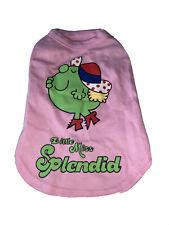 Little Miss Splendid Pink Dog Vest Tshirt Top Large