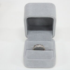 9ct Gold Ring Size K With Cubic Zirconia Details #904