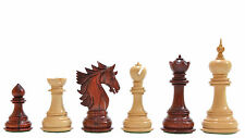 """The Sher-E-Punjab Series Chess Pieces in Bud Rose Wood / Box Wood - 4.6"""""""