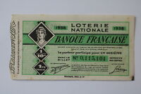 FRANCE LOTERY TICKET 1938 B20 BK139