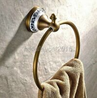 Antique Brass Bathroom Accessories Wall Mount  Towel Ring Holder lj004-10