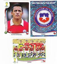 Panini FIFA World Cup Brazil 2014 Stickers -Chile complete team- 19 Stickers