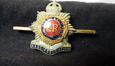 WW2 veterens Royal Army supply corps association  Sweetheart brooch KC ER cipher