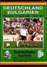 WM-Qualifikation 17.04.1985 Deutschland - Bulgarien in Augsburg