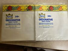 VINTAGE FRUIT SHELF PAPER ROYLCRAFT TWO PACKAGES