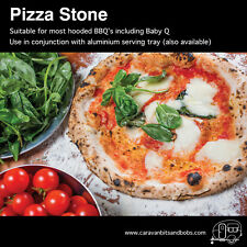 Pizza Stone and Tray - will fit most small hooded BBQ's including baby Q