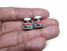 2 Bottle of Chocolate Nutella Dollhouse Miniatures Food Bakery Bread Paste