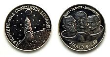 Medaglia I Pionieri Della Conquista Lunare Apollo 9 - 1969 Scott-McDivitt-Schwei