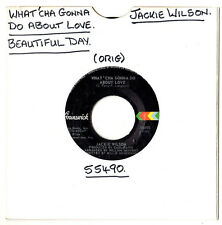 """N/SOUL.JACKIE WILSON.WHAT'CHA GONNA DO ABOUT LOVE / BEAUTIFUL DAY.U.S.ORIG 7""""."""