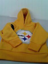 NFL kids LS NFL Pittsburgh Steelers hooded sweatshirt size 2T made in Egypt